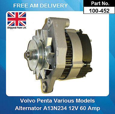 Alternator For Volvo Penta 2002 2003 2003 Turbo 1983-1993 12V 60Amp