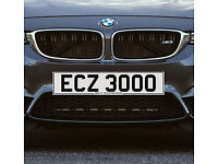 ECZ 3000 - Price Includes DVLA Fees - Cherished Personal Private Registration Number Plate