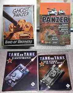 3 Board War Games WWII - Panzer, Ghost Panzer, Tank on Tank