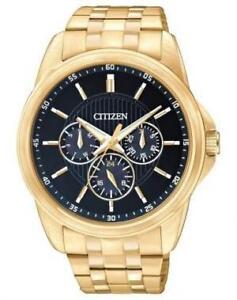 Citizen Men's Gold- Stainless Steel Bracelet Multifunction Watch  AG8342-52L