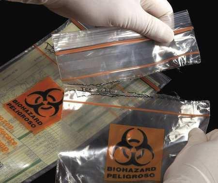 Minigrip Lab Guard Sbl2x69b5 Tear Zone Bag, 6 In X 9 In,Pk1000