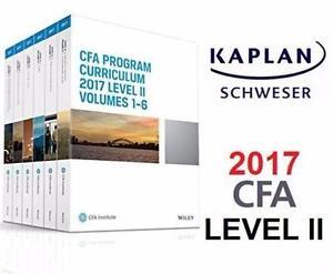 NEW KAPLAN CFA 2017 LEVEL 2 SET CFA Program Curriculum 2017 Level II, Volumes 1-6 - TEXTBOOK - KAPLAN SCHWESER 91744714