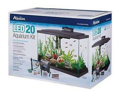 Aquarium Kit | Aqueon 20 Gallon LED Kit | Black | Never Used
