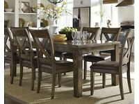 Beautiful brand new extending Dining Room Table with 8 Chairs