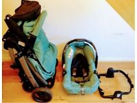 Graco like new stroller and car seat