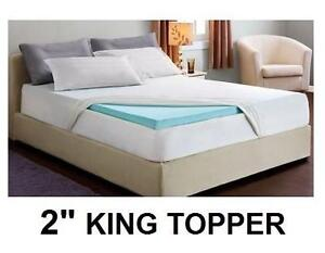 """NEW 2"""" COOL GEL MEMORY FOAM TOPPER - 109546205 - KING -  Home Bedroom Accessories Mattress Covers  Pads"""