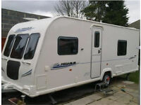 Bailey Pegasus 534 2010 4 berth with fixed bed and motor mover. Excellent condition