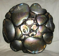 EUC PartyLite Black Pearl Candle Holder