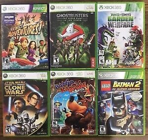 Xbox 360 Games *Lot of 6 Games* Including Ghostbusters & Banjo-K