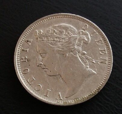 Straits Settlements Queen Victoria 20 Cent Silver Coin Year 1898 - A NICE & FINE Coin