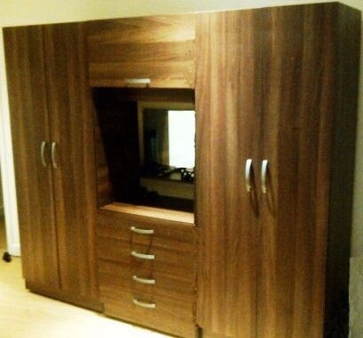 100 Guaranteed Price Brand New Bedroom Fitment Wardrobe With Central Dresser Mirror Light