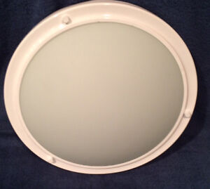 """White finish 13.5"""" Mount Ceiling light fixture - lots on hand"""