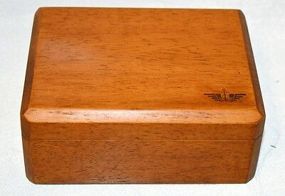 """Docker Box - Wooden box 5 1/2"""" x 4 1/2""""  x 2 1/4"""" Tall. Nice."""