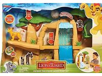 NOW REDUCED, BRAND NEW IN BOX, LION GUARD DEFEND THE PRIDE LANDS PLAY SET