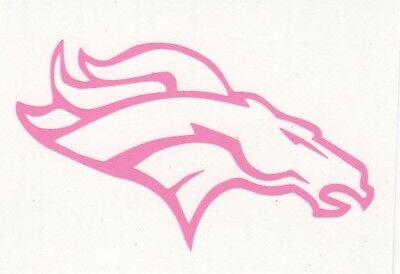 Pinks Denver (Pink Denver Broncos helmet car window RTIC decal sticker up to 12)