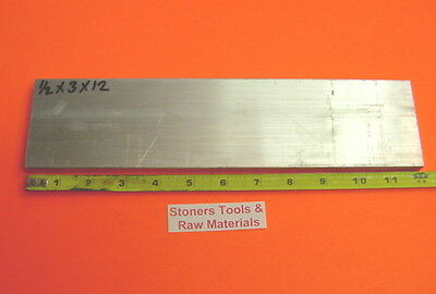 12 X 3 Aluminum 6061 Flat Bar 12 Long Solid T6511 Plate New Mill Stock .50