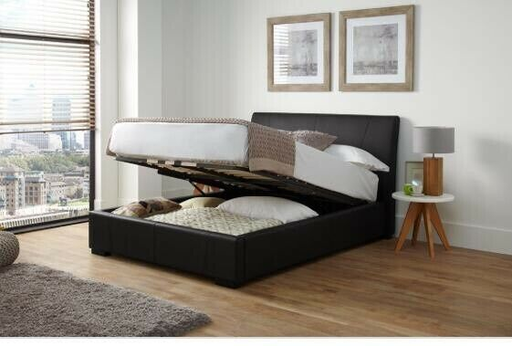 Terrific Ottoman Faux Leather Storage Bed In Wednesbury West Midlands Gumtree Beatyapartments Chair Design Images Beatyapartmentscom