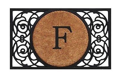 F Door Mat Monogram - Large Monogram Front Door Mat - Entry Door F Door Mat ()