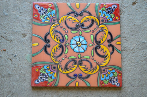 "1~MEXICAN TALAVERA POTTERY 12"" x 12"" inches"