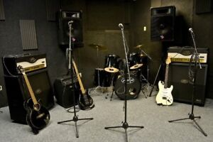 Studio space available for jamming rehearsal practice musical