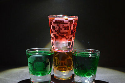 Custom Shot Glass (1shot glass your choice of Retro 8 bit Mario custom nintendo 64 wii u 3DS light)