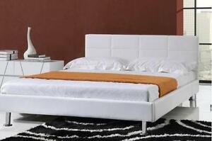 $$$ Big Autumn Sale * brand new DOUBLE/ QUEEN PU Modern leather platform bed- Free Local Delivery