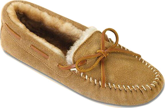 Minnetonka Sheepskin Softsole Moccasin Slipper