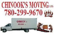Chinook's Moving ltd. 780-299-9670