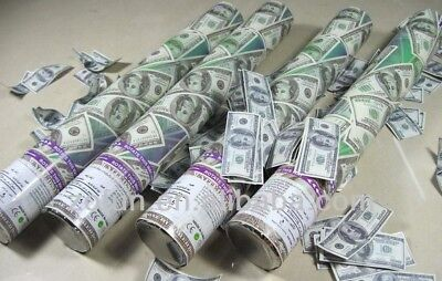 """12"""" MONEY Confetti Cannon Shooter Party Popper Confetti Cannon 2PACK"""