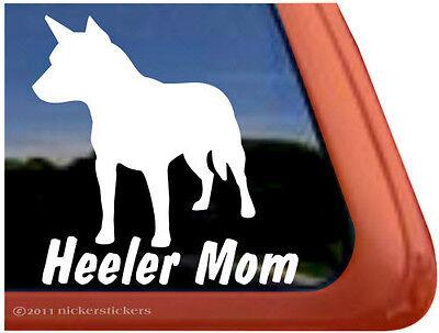 HEELER MOM ~ High Quality Vinyl Australian Cattle Dog Window Decal Sticker