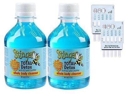 2 Stinger Total Detox 8Oz Drink Cleanser With 2   6 Panel Tests  Free Expedite