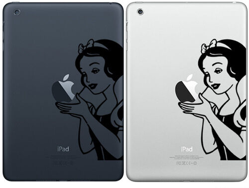 SNOW WHITE sticker decal vinyl for ipad mini + free sticker фото