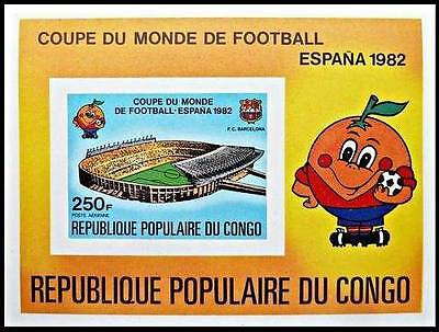 CONGO 1982 Espana'82 World Cup Football Imperforated S/S MNH