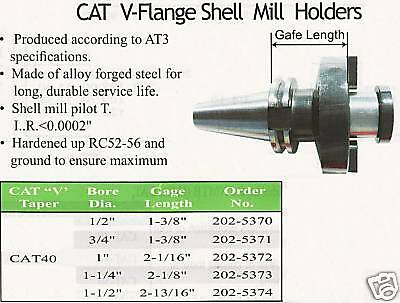 Cat40 Shell Mill Holder For Cnc Machine Arbor 1-14
