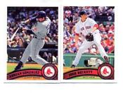 2011 Topps Red Sox Team Set