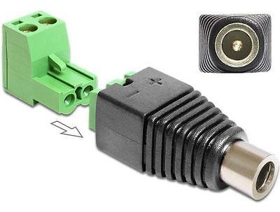 Delock 65486 Adapter DC 2,1 x 5,5 mm Buchse zu Terminalblock 2 Pin 2-teilig
