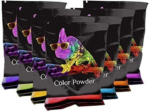 Holi Color Powder Rainbow Packets 7 Pack 70 Grams ***FREE SHIPPING***