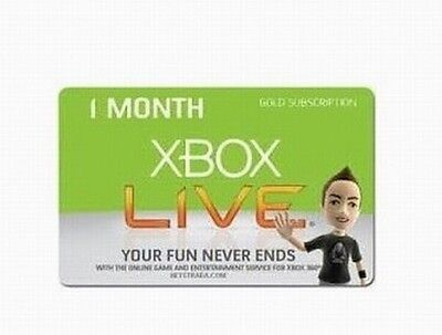 Xbox LIVE 1 Month Gold Membership xbox 360 livecard on Rummage