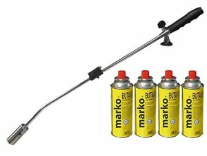 Weed Burner Fire Gun / Gas Torch Weed killer With 4 , 8