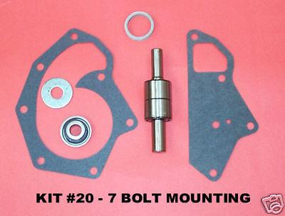 John Deere Diesel Water Pump Repair Kit  7 Bolt Mounting - Kit 20 New