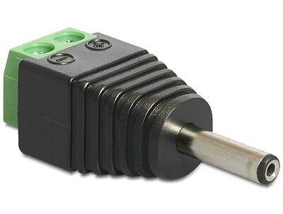 delock test adapter dc 1,3 x 3,5mm prüf stecker an terminalblock 2 pin