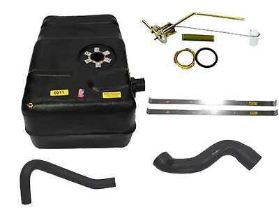 1962-1977 Jeep J-Truck New Plastic Gas Tank Kit with filler hose without flange