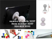 White Rubber Suction Cup Ball Mobile Phone Stand Holder for iPho