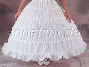 5-HOOP-BONE-BRIDAL-WEDDING-GOWN-DRESS-CIVIL-WAR-RENAISSANCE-PETTICOAT-SKIRT-SLIP