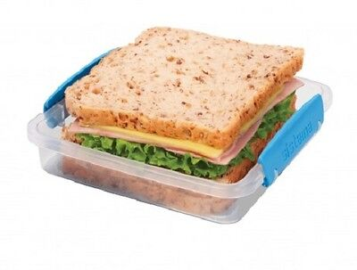 SISTEMA Klip it 450ml Stackable Sandwich Box/Container with Clip Lid & Seal.