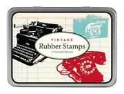 Vintage Rubber Stamp Set