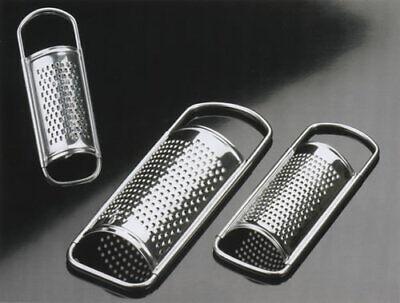 TRIO set 3 grattugie acciaio inox foratura piccola media grande