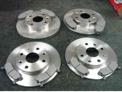MAZDA MX5 EUNOS 1.6 MK1 1990-1998 FRONT & REAR BRAKE DISCS AND PADS SET NEW