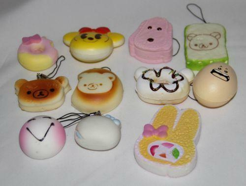 30pcs set random kawaii squishies soft panda bread cake buns phone - Squishy Toast Animation Art Amp Characters Ebay
