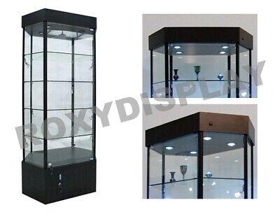Tower Led Black Display Showcase Store Fixture Assembled Wlights Sc-wl35bk